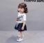 เสื้อ+กางเกง สีขาว (น้องอายุ 6 เดือน - 4 ปี) thumbnail 2