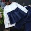 เสื้อแขนยาว ผ้าคาดเอว+กางเกง สีน้ำเงิน thumbnail 4