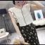 P24911 เสื้อแฟชั่น ผ้าชีฟองเนื้อดีแขนระบาย สีขาว ครีม thumbnail 1