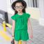 ชุดเซ็ท เสื้อ+กางเกง สีเขียว thumbnail 1