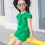 ชุดเซ็ท เสื้อ+กางเกง สีเขียว thumbnail 6