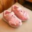 รองเท้าผ้าใบเด็ก สีชมพู แต่งดอกไม้ thumbnail 2