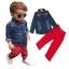 เสื้อยีนส์+กางเกงสีแดง thumbnail 1
