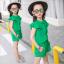 ชุดเซ็ท เสื้อ+กางเกง สีเขียว thumbnail 2