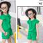 ชุดเซ็ท เสื้อ+กางเกง สีเขียว thumbnail 4