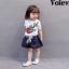 เสื้อ+กางเกง สีขาว (น้องอายุ 6 เดือน - 4 ปี) thumbnail 1