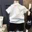 เสื้อโปโลสีขาว แต่งผีเสื้อ+กางเกง thumbnail 2