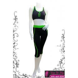 เสื้อกล้ามโยคะครึ่งตัว AC706-41 สีเขียว