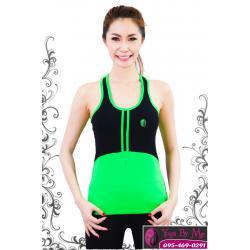 เสื้อกล้ามโยคะเต็มตัว AC703 สีเขียว