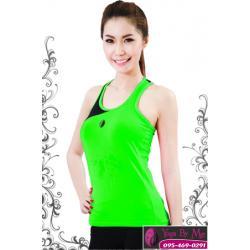 เสื้อโยคะแขนกุด AC702 สีเขียว