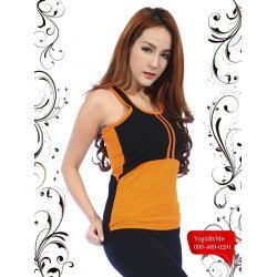 เสื้อกล้ามโยคะเต็มตัว AC703B สีส้ม
