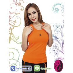 เสื้อกล้ามโยคะเต็มตัว AC704 สีส้ม