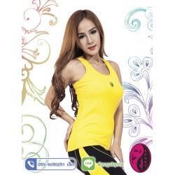 เสื้อกล้ามโยคะเต็มตัว AC704 สีเหลือง