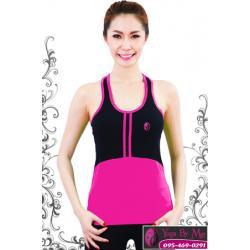 เสื้อกล้ามโยคะเต็มตัว AC703-41 สีชมพู