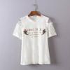 P24231 เสื้อผ้าลูกไม้ สีขาว แต่งอักษรพร้อมซับใน