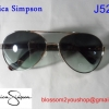 Jessica Simpson ทรง Aviator เลนส์สีดำ