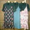 P1001 Set เสื้อแขนยาว + เดรส ไม่ติดกัน ผ้าชีฟองเนื้อนิ่ม