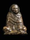 รูปหล่อรุ่นแรกพิมพ์ห่มคลุม หลวงพ่อปลอด วัดในปากทะเล เพชรบุรี ปี 2498