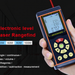 เครื่องวัดระยะแบบเลเซอร์(Laser Distance meter) 40M 60M 80M 100M Single continuous Area Volume with Electronic level
