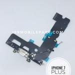 แพร USB + Mic (ตูดชารจ์) ไอโฟน 7 PLUS สีขาว (สำหรับเครื่องสีขาว,ทอง,ชมพู)