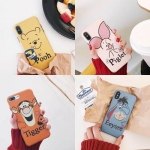 เคสนิ่ม ลายการ์ตูน Pooh & Friend iPhone X