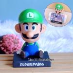 โมเดลหัวโยกสำหรับวางมือถือ ลาย Mario (เขียว)