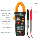 PM2016S Smart Mini Digital AC Clamp Meter Multimeter with Resistance frequency data hold NCV tester