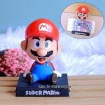 โมเดลหัวโยกสำหรับวางมือถือ ลาย Mario (แดง)