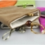 ถุงผ้ากำมะหยี่ 2 ช่อง ใส่มือถือหรือแบตสำรอง ขนาด 5.0 นิ้ว 10*16 ซม. (สีน้ำตาล) thumbnail 6