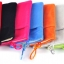 ถุงผ้ากำมะหยี่ 2 ช่อง ใส่มือถือหรือแบตสำรอง ขนาด 5.0 นิ้ว 10*16 ซม. (สีน้ำตาล) thumbnail 4