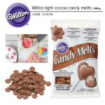 Wilton light cocoa candy melts 340 g.