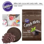 Wilton dark cocoa mint candy melts 340 g.