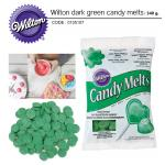 Wilton dark green candy melts 340 g.