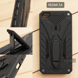 เคส Xiaomi Redmi 5A เคสบั๊มเปอร์ กันกระแทก Defender 2 ชั้น (พร้อมขาตั้ง) สีดำ (แบบที่ 2)