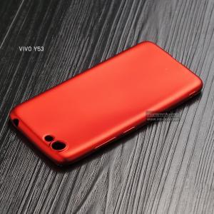 เคส Vivo Y53 เคสนิ่ม TPU สีเรียบ สีแดง