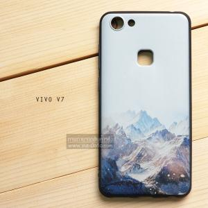 เคส Vivo V7 เคสนิ่ม TPU พิมพ์ลาย (ขอบดำ) แบบที่ 4