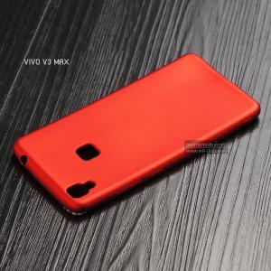 เคส Vivo V3 Max เคสนิ่ม TPU สีเรียบ สีแดง