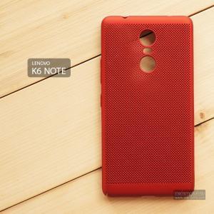 เคส Lenovo K6 Note เคสแข็งสีเรียบ (รูระบายอากาศที่เคส) สีแดง