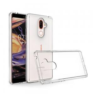 เคส Nokia 7 Plus เคส Hybrid ฝาหลังอะคริลิคใส ขอบยางกันกระแทก สีใส