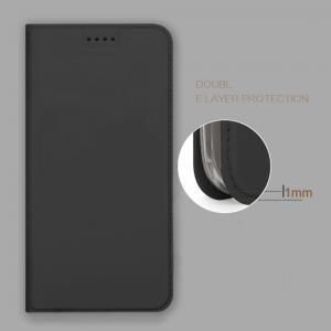 เคส Nokia 7 Plus เคสฝาพับแม่เหล็กเกรดพรีเมี่ยม (เย็บขอบ) พับเป็นขาตั้งได้ สีดำ (Dux Ducis)
