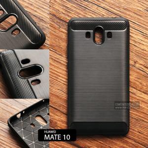 เคส Huawei Mate 10 เคสนิ่มเกรดพรีเมี่ยม (Texture ลายโลหะขัด) กันลื่น ลดรอยนิ้วมือ สีดำ