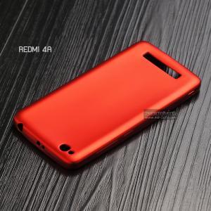 เคส Xiaomi Redmi 4A เคสนิ่ม TPU สีเรียบ สีแดง