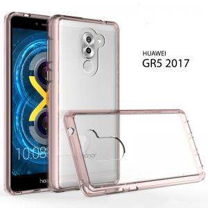 เคส Huawei GR5 2017 เคส Hybrid ฝาหลังอะคริลิคใส ขอบยางกันกระแทก สี Old rose