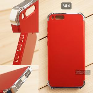เคส Xiaomi Mi 6 เคสแข็ง 3 ส่วน (เสริมมุมลดแรงกระแทก) ครอบคลุม 360 องศา (สีเงิน - สีแดง)