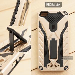 เคส Xiaomi Redmi 5A เคสบั๊มเปอร์ กันกระแทก Defender 2 ชั้น (พร้อมขาตั้ง) สีทอง (แบบที่ 2)