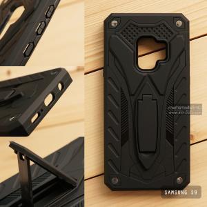 เคส Samsung Galaxy S9 เคสบั๊มเปอร์ กันกระแทก Defender 2 ชั้น (พร้อมขาตั้ง) สีดำ (แบบที่ 2)