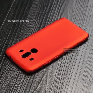 เคส Huawei Mate 10 Pro เคสนิ่ม TPU สีเรียบ สีแดง