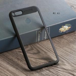 เคส Xiaomi Mi A1 เคส Hybrid ฝาหลังอะคริลิคใส ขอบยางกันกระแทก แบบที่ 2 (ขอบนูนรอบกล้อง) สีดำ