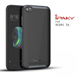 เคส Xiaomi Redmi 5A เคส Hybrid iPaky เคสนิ่มกันกระแทกเสริมขอบ PC สีดำเทา