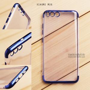 เคส Xiaomi Mi 6 เคสนิ่ม SLIM TPU สีใส ขอบเงา ( สีน้ำเงิน )